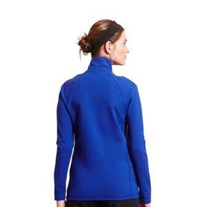 Athletic zip front mock neck light weight jacket